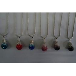 Колие с цветни камъни